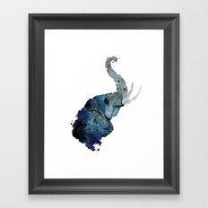 Gray Elephant  Framed Art Print