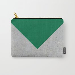 Green & Grey Concrete Carry-All Pouch