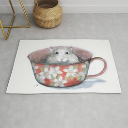 Rat in a cup Rug
