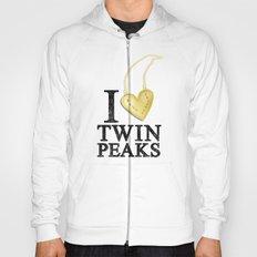 I Love Twin Peaks (Gold Heart Necklace) Hoody
