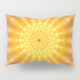 Gold Medallion Mandala Pillow Sham