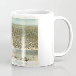 Chicago in 1868 from Schiller Street north side to 12th Street south side Coffee Mug