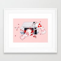 nintendo Framed Art Prints featuring Nintendo Dentata by scoobtoobins