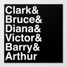 League of Super Friends (White) Canvas Print