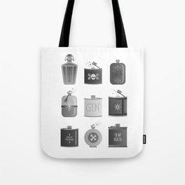 Flask Collection – Black Palette Tote Bag