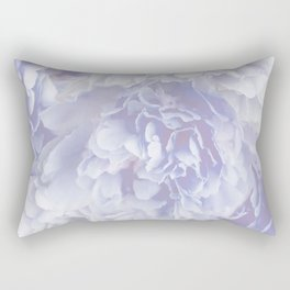 Flower Bouquet In Pastel Blue Color - #society6 #buyart Rectangular Pillow