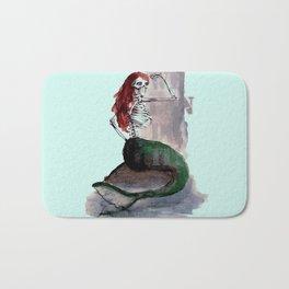 mermaid skull Bath Mat