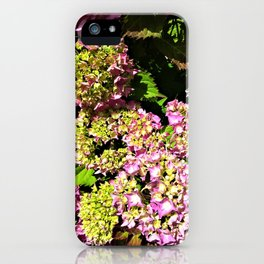 Pink cascade IV iPhone Case