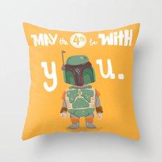 Boba Fett holiday  Throw Pillow