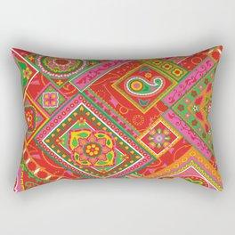 Paisley Patch Pomegranate Rectangular Pillow