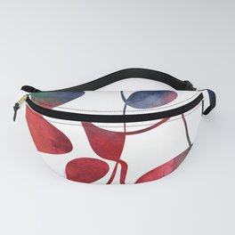 Organic abstract watercolor rainbow Fanny Pack