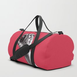 Painful Experiment With Stabbed Hand   Horror Art Duffle Bag