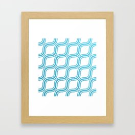 Blue Waves Pattern Framed Art Print