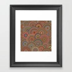 Mandala Mania-Vintage colors Framed Art Print
