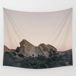 Sunset Over Desert Vasquez Rocks Wall Tapestry