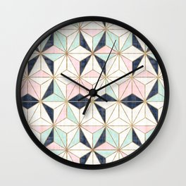 mod geo star Wall Clock