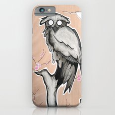 Owl on the branch with a full moon Slim Case iPhone 6s