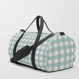 Buffalo Checks in Sea Foam and Cream Duffle Bag