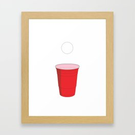 Beer Pong Illustration Framed Art Print