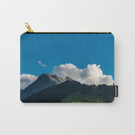 Summer picture of Switzerland Adelboden mountain village Carry-All Pouch