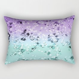 Mermaid Lady Glitter Stars #4 #shiny #decor #art #society6 Rectangular Pillow