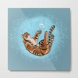 Bubble Tiger Metal Print