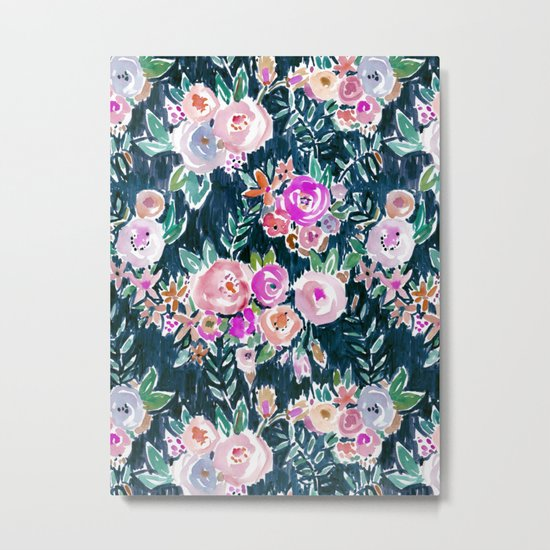 Midnight PROFUSION FLORAL Metal Print