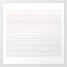 Ombre Pastel Lace Art Print