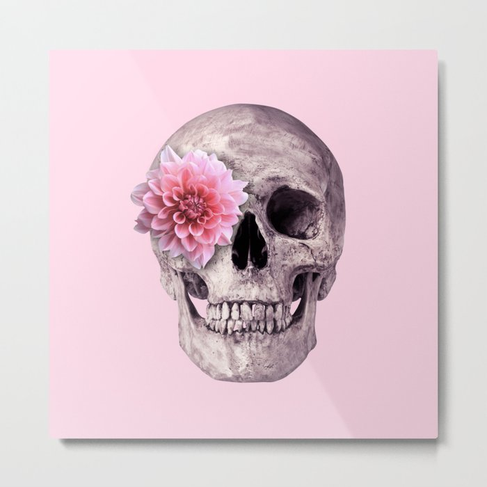 FLOWER SKULL Metal Print