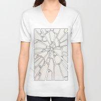broken V-neck T-shirts featuring Broken by Ericaphant