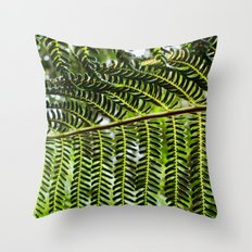 Feather Leaves Throw Pillow