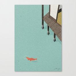 Water Garden, Nagasaki Canvas Print