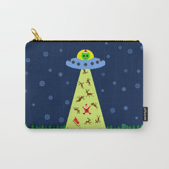 Alien abduction of Santa Claus (sweater) Carry-All Pouch
