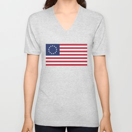 Betsy Ross USA flag Unisex V-Neck