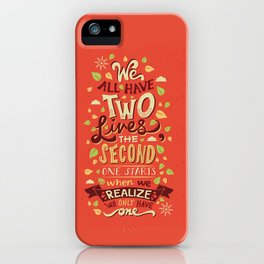 Two Lives iPhone Case