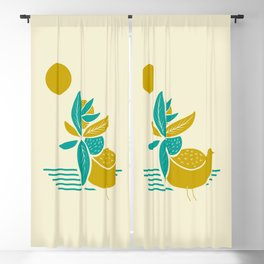 Bird colorful tail Blackout Curtain
