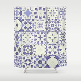 Flower Bell Azulejos Shower Curtain