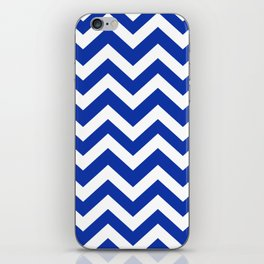 Egyptian blue - blue color - Zigzag Chevron Pattern iPhone Skin