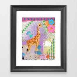 Colorful Giraffe Framed Art Print