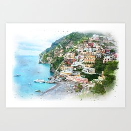 Picture perfect Positano Art Print