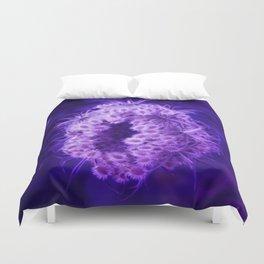 Dark Purple Closing Queen Anne's Lace Duvet Cover