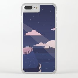 Lighthouse by the Sea Clear iPhone Case