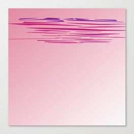 Design lines, pink sweet lines Canvas Print