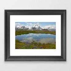 Alpine Pond Framed Art Print