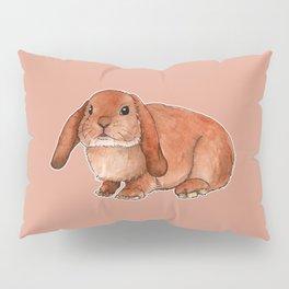 Red rabbit ram Pillow Sham