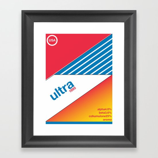 ultra//single hop Framed Art Print