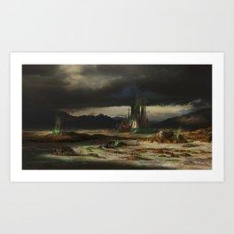 Emerald spear Art Print