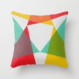 Triangles Throw Pillow