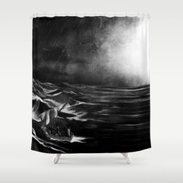 Silencing the Storm Shower Curtain