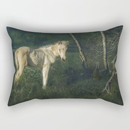 Little Blue-Eyed Filly Rectangular Pillow